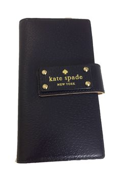 Kate Spade New York Wellesley Stacy Leather Wallet Navy Blue New Without Tags  | eBay
