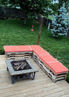 Sitzbank für Feuerstelle