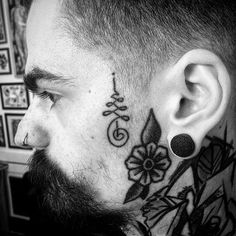 Healed face tatz on - Tattoo For Women Face Tattoos, Body Art Tattoos, Stretched Ears, Body Jewelry, Tattoos For Women, Healing, Instagram Posts, Guys, School