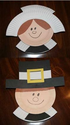 Turkeys aren't the only game in town. Making paper plate pilgrims with your tots is a great opportunity to teach them about the first Thanksgiving.    Photo courtesy of AllKidsNetwork.com