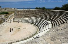 Salamis in North Cyprus.One of the few plkaces to find a complete Amphetheatre and many other ruins.Try not to go during the hottest part of the day though!