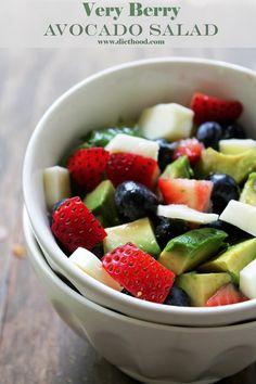 Very Berry Avocado Salad | www.diethood.com