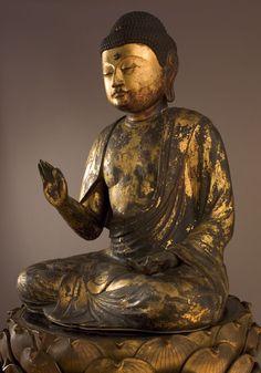 Amida, Buddha of the Western Paradise, 12th century, On Lotus  Pedestal