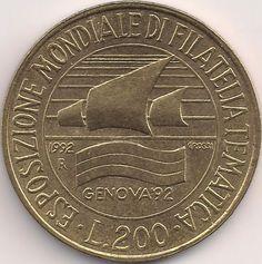 Wertseite: Münze-Europa-Südeuropa-Italien-Lira-200.00-1992