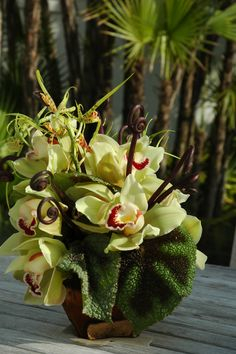 tropical floral arrangement | Ron Wendt Design