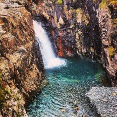 """Waterfall at The Fairy Pools, Isle of Skye. #isleofskye #fairypools #waterfall #ilovescotland #scotlandinstagram #scotland #roadtrip #brilliantmoments…"""