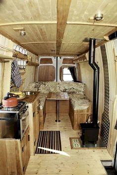 30 Ideas for Make Your Camper Van Kitchen Look Good - The Urban Interior Truck Camper, Vw Lt Camper, Camper Trailers, Camper Life, Sprinter Camper, Bus Life, Van Conversion Interior, Camper Van Conversion Diy, Van Interior