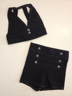 Sadie Jane Dancewear - Black Button High Waist Set, $65.00 (http://www.sadiejane.com/black-button-high-waist-set/)