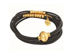 Sence Copenhagen armband R343 black/gold plated