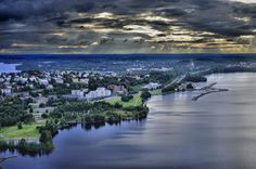 Beautiful #Tampere, Finland. You may see both lake Näsijärvi in front and lake Pyhäjärvi in back.