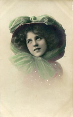 Original vintage hand tinted real photo by SistersScrapbooking, $4.75