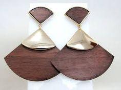 Resultado de imagem para modelos de brincos de madeira