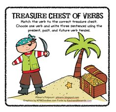 Treasure Chest of Verbs -- Freebie