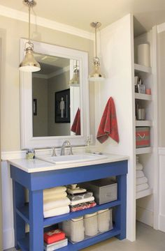 Great DIY idea for storage ........ Main-Bathroom-Finished-Vanity