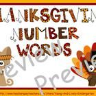 Practice reading & matching numbers to number words, sequencing the number words and finding missing numbers. Includes interactive features and...