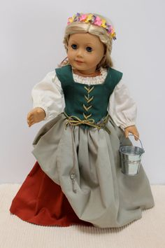 American Girl Doll Clothes - Merry milk maiden joins other revellers at the Renaissance Faire on Etsy, $60.00
