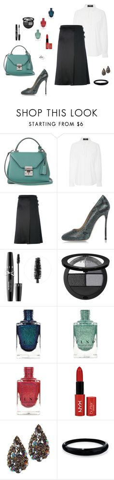 """""""Black"""" by dmiddleton ❤ liked on Polyvore featuring Mark Cross, Paule Ka, Le Kilt, Dsquared2, Sephora Collection, NYX and Alexis Bittar"""