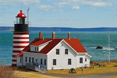 West Quoddy Head Lighthouse, Lubec, ME - N 44 48.909, W 66 57.040 Eastern most…