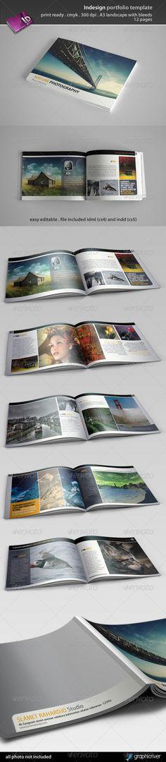 Indesign Portfolio Template - Portfolio Brochures  Source: http://graphicriver.net/item/indesign-portfolio-template/3435643