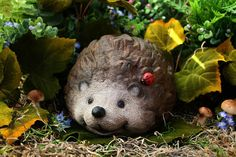 Hedgehog Statue Concrete  Garden Sculpture Outdoor by PhenomeGNOME, $49.99