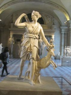 Greek Goddess Artemis, goddess of the hunt.