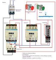 Esquemas eléctricos: Partida consecutiva de dos motores con temporizado...