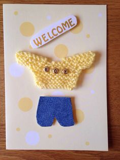 A personal favourite from my Etsy shop https://www.etsy.com/listing/232217812/baby-card-yellow-jersey-with-boy-beads
