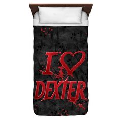 """Checkout our #LicensedGear products FREE SHIPPING + 10% OFF Coupon Code """"Official"""" Dexter/I Heart Dexter -  Duvet Cover  - Dexter/I Heart Dexter -  Duvet Cover  - Price: $114.99. Buy now at https://officiallylicensedgear.com/dexter-i-heart-dexter-duvet-cover"""