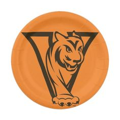 Valley High School Graduation Tiger Paper Plates  sc 1 st  Pinterest & Valley High School WDM Ia Graduation Tiger Paper Plate | High ...