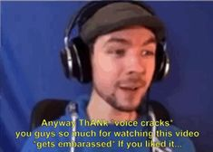 """septicplier: """"Jack is so adorable when his voice cracks while doing his outro """" I need to warm up my voice more before recording haha"""