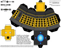Free Download: Dr. Who Papercraft Templates Dalek!!
