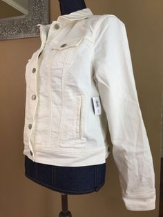 Old Navy Off White Jean Jacket Size Large NWT   | eBay