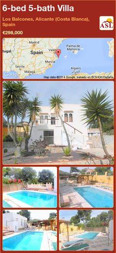 6-bed 5-bath Villa in Los Balcones, Alicante (Costa Blanca), Spain ►€298,000 #PropertyForSaleInSpain