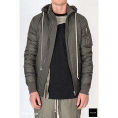 "4771cfd9d @sevenhelsinki on Instagram: ""Cool jacket for cool weather #rickowens  #sevenhelsinki #menswear #aw18 #bomberjacket"""