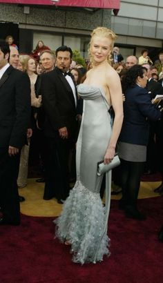 The 100 best Oscar dresses of all time : Nicole Kidman shimmered her way down the red carpet in this form fitting fishtail from Chanel at the 2004 Academy Awards.