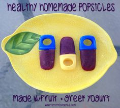 Healthy Homemade Popsicles made with fruit and Greek Yogurt. Sooooo good! {www.prettyprovidence.com}