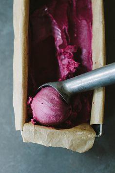 Purple Grape & Rosemary Sorbet (Vegan + Paleo)