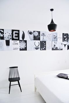 Vosgesparis: DIY for your home | A simple 3D moodboard fo your wall.