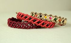 Striped Macrame Bracelets - video tutorial