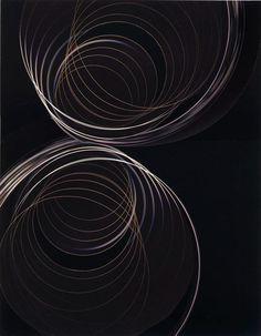 Nicole Wermers | Untitled (light circles on black), 2008