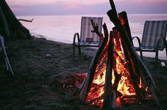 Sunset bonfires - A summer essential