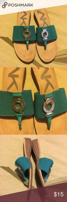 ANNE KLEIN SPORT SANDALS 8.5 M  TURQUOISE  Good  condition Anne Klein Sport Shoes Sandals