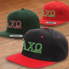 Alpha Chi Omega Classic Snapback Cap $17.95 #Greek #Sorority #Clothing #Hat #AChiO #AlphaChiOmega