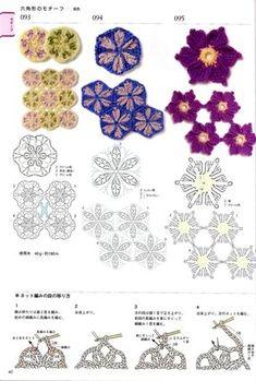 View album on Yandex. Crochet Diy, Form Crochet, Crochet Quilt, Crochet Cross, Crochet Diagram, Crochet Squares, Crochet Motif, Crochet Stitches, Russian Crochet