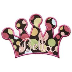 Princess Crown Machine Embroidery Applique by SimplySweetEmbroider, $4.00