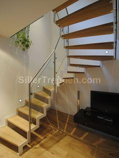 Offenes treppenhaus verkleiden  Weiße offene Treppe | Treppe | Pinterest | Offene treppe, Treppe ...