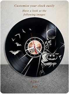 Batman vinyl clock, vinyl wall clock, vinyl record clock,...