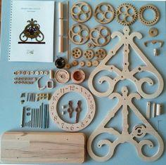 Wooden table clock kit