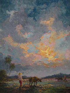 LR Araro sunset 18x24 (oil)