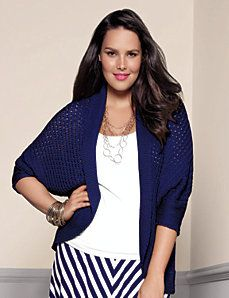 Full Figure Cocoon Sweater by Lane Bryant
